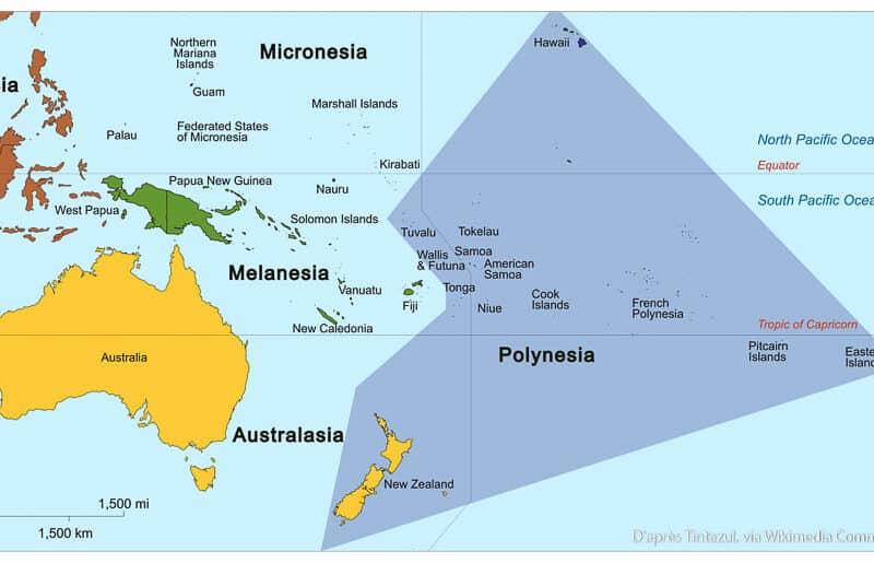 Où se trouve Tahiti sur le globe ?